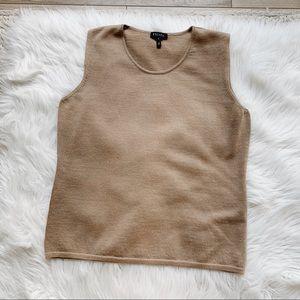 Escada Brown Sleeveless Sweater Top